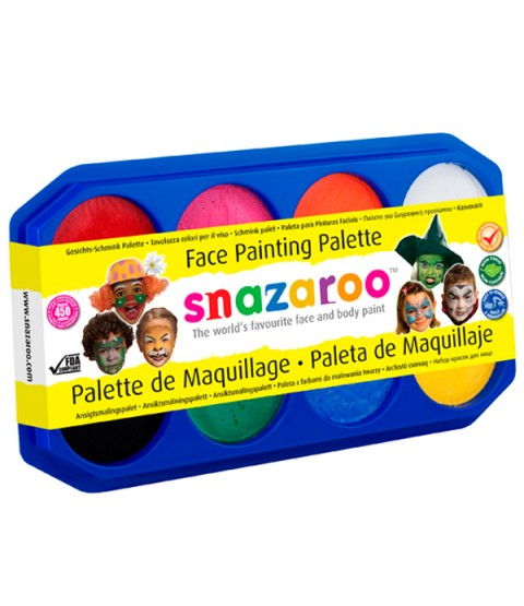 Snazaroo 18ml Palette Kit - Includes 8 Paints