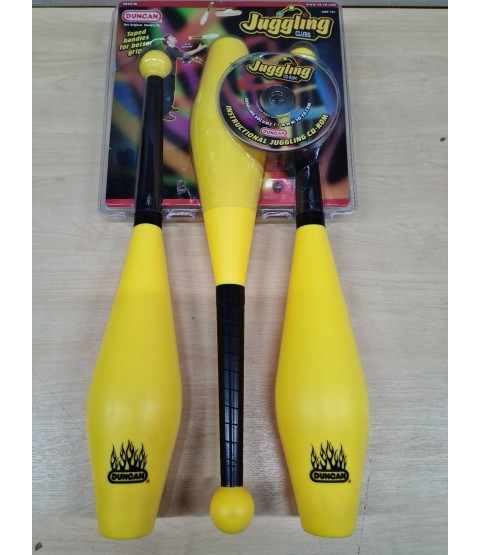Duncan Juggling Clubs Set - Set of 3 Yellow - Bargain basement - RRP £24.99