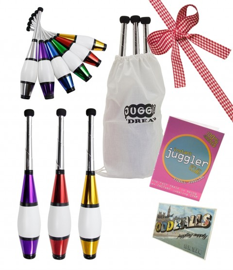 3 Juggle Dream Euro Juggling Club - POSTCARD - BAG - DVD - RRP £45.95