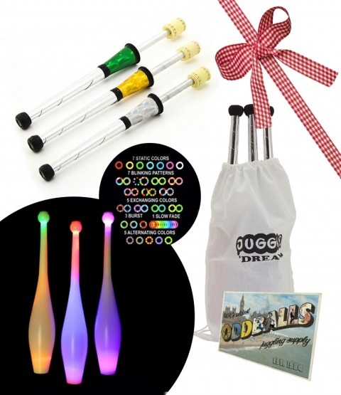 3 Juggle-Light LED Club Multi - 3 Juggle Dream SuperNova Fire Torch - BAG - POSTCARD - RRP £185.93