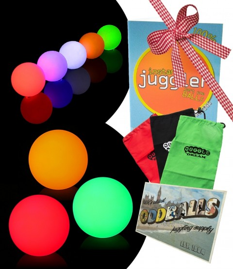 3 Oddballs Single colour LED juggling ball - DVD - Bag - Postcard - RRP - £50.49