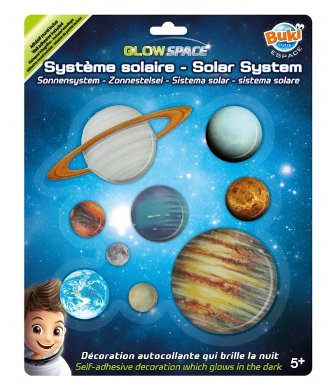 BUKI Glow In The Dark Solar System Sister Set
