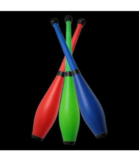 3 x PX3 Moulded Flouro Pirouette Juggling Club