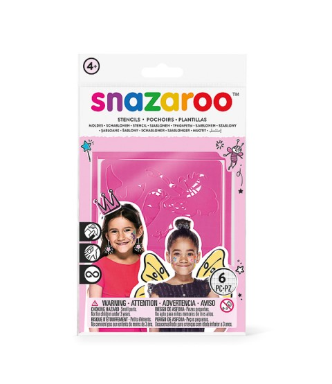 Snazaroo Face Painting Stencils - Pack of 6 - Fantasy