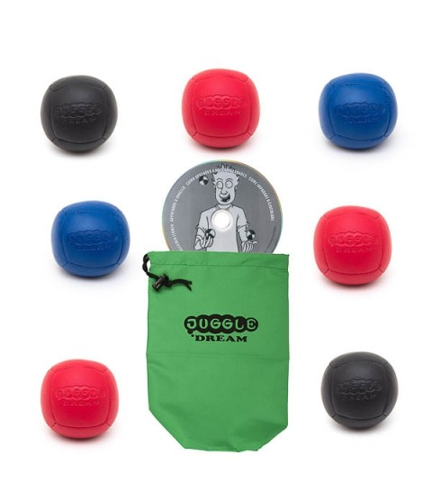 7x Juggle Dream Pro Sport juggling ball 90 gram + Instant juggler DVD + Bag