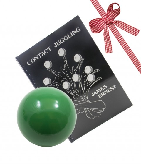 80mm Practice Contact Ball and Contact Juggling Book-Green