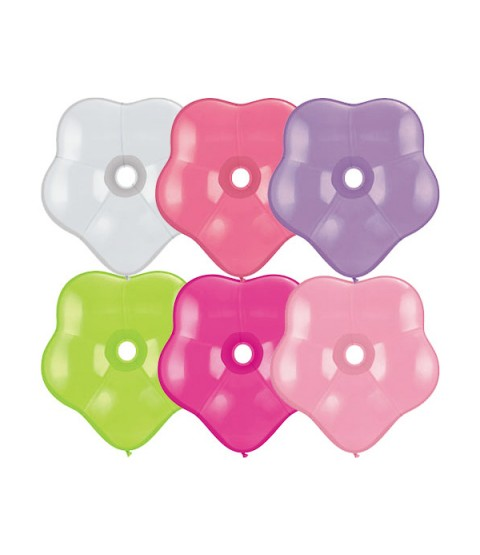 "Qualatex 6"" Geo Flower Balloons Assortment"