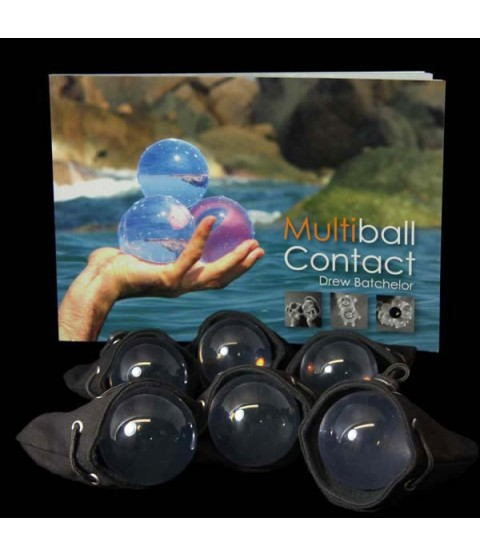 6 x 70mm Juggle Dream Acrylic Contact Balls, Multiball Contact Book and Six Contact Ball Bags