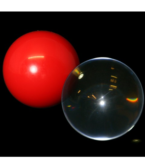 100mm Acrylic contact ball, plus free Practice ball.