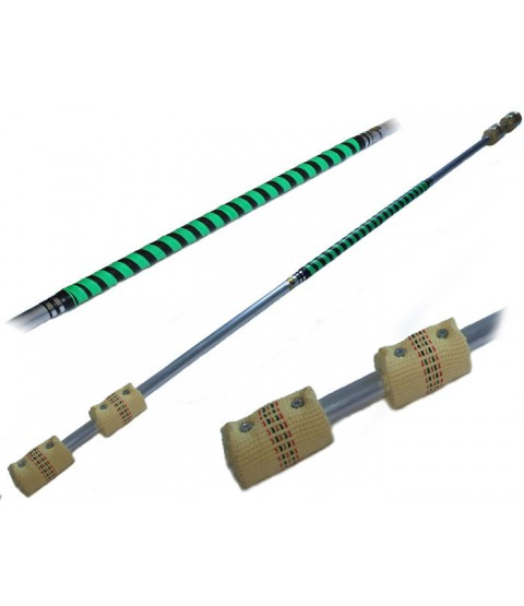 Flames N Games Contact Fire Staff 140cm / double 65mm wicks