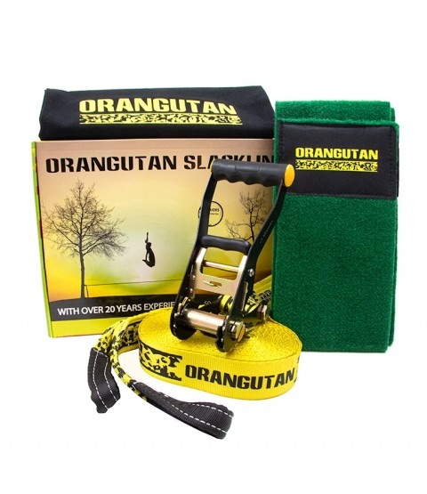 Orangutan Slackline 15m with tree protector