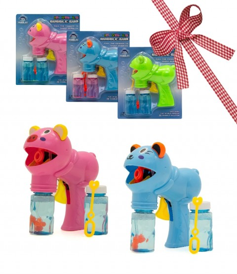 2 Indy Indymal Bubble Gun - All Style - Contains Pig, Cat - RRP £9.98