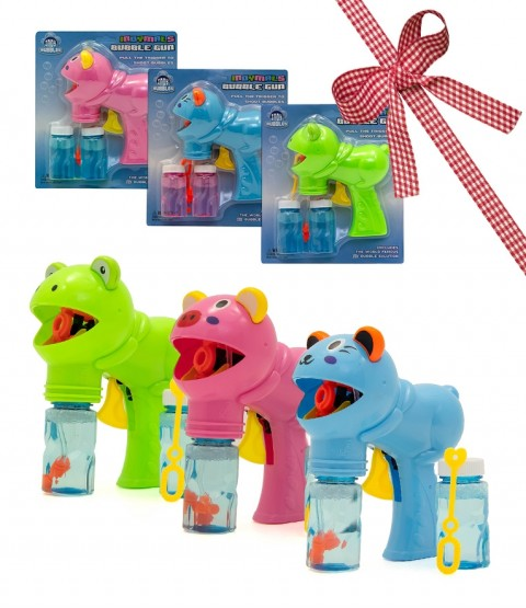 Indy Indymal Bubble Gun - All Style - Contains Pig, Cat and Dolphin - RRP £14.97