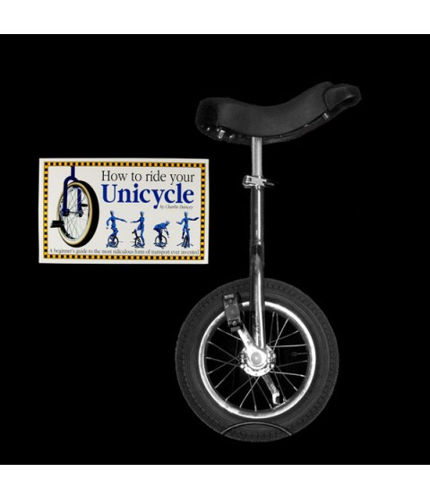 """Indy 12"""" Trainer Unicycle and Free 'How To Ride Your Unicycle' Book"""