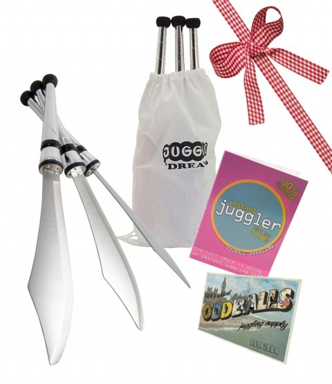 3 Juggle Dream Sabre Edge Knife - DVD - BAG - POSTCARD - RRP £62.47