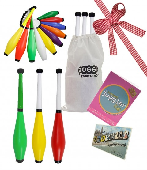 3 Juggle Dream Trainer Juggling Club - POSTCARD - BAG - DVD - RRP £39.95