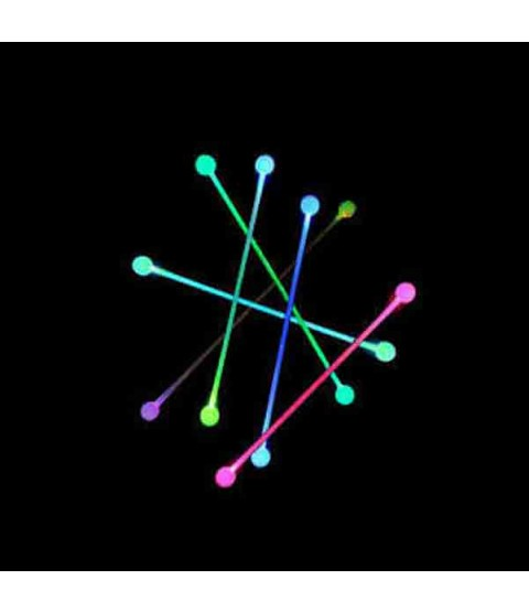 Juggle-Light Thick Glow Staff 'Multi light' (With Ball Ends)