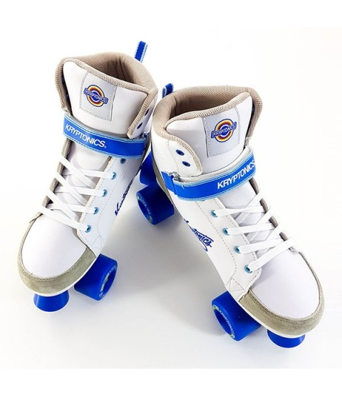 Kryptonics Roller Quad Skates - Blitz - White / Blue