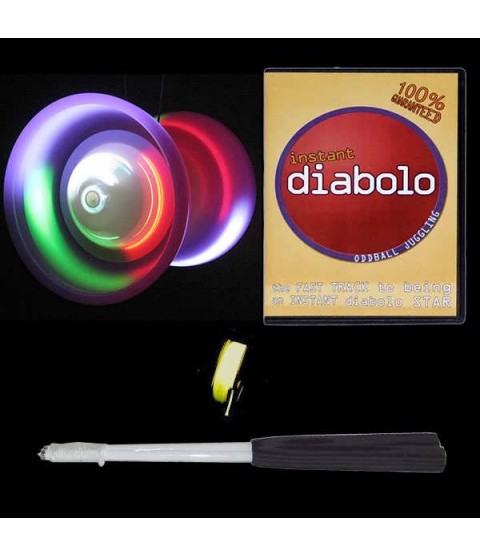 LED Taibolo Diabolo, DVD, Handsticks + 10m String