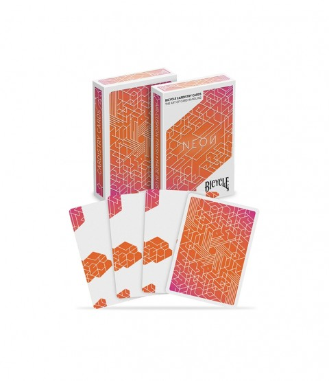Bicycle Neon Orange Bump Cardistry Playing Card Deck