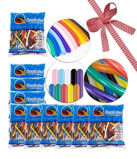 Qualatex 260Q Traditional Balloon Selection - 10 BAGS - RRP - £89.99