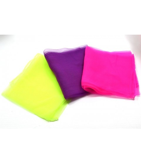 Pink / Yellow / Purple Juggling Scarves