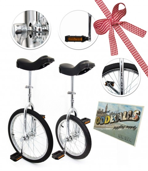 "Deluxe Indy Trainer 20"" Unicycle - Deluxe Indy Trainer 16"" Unicycle - Postcard - RRP £157.99"