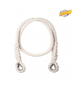 100% COTTON ROPE DIAMETER 25 mm WITH GALVANIZED STEEL THIMBLES - Length : 2,5 m