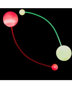Juggle-Light LED Contact Poi w/ Fibre Optic Cord - Multi-Light Version