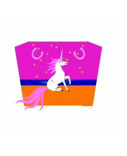 Wolkensturmer Single Line Sled Kite - Sunny Unicorn Graphic