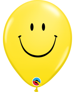 "Qualatex 5"" Yellow Smile Face Balloons"