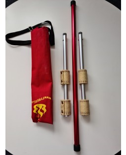 Fyrefli Leopard Telescopic Fire Staff -1.4m (2x 65mm Wick) - Bargain basement - RRP £44.99