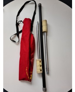 Fyrefli Leopard Telescopic Fire Staff - 1.15m - 1.45m (100mm Resevoir Wick) - Bargain basement - RRP £44.99