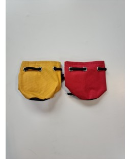 Small wick covers (pair) - Red and yellow - Bargain basement - RRP £6.99