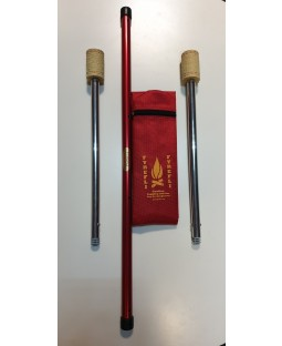 Fyrefli Leopard Telescopic Fire Staff - 0.9m - 1.2m (65mm Reservoir Wick)
