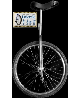"Indy 24"" Trainer Unicycle and Free 'How To Ride Your Unicycle' Book"
