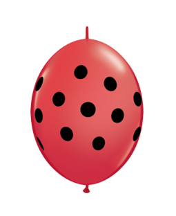"Qualatex 6"" Q-Link Polka Dot Balloons - Red"
