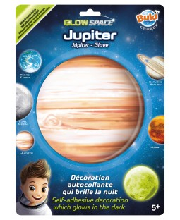BUKI Glow In The Dark Jupiter Space Sticker