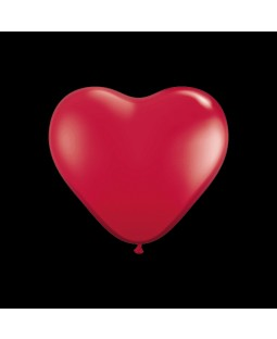 "Qualatex 6"" Heart Balloons - Ruby Red Assortment"
