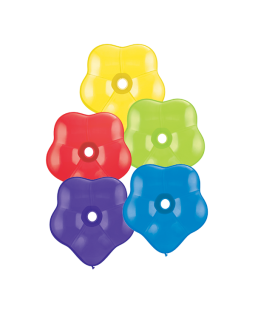 "Qualatex 6"" Geo Flower Balloons Radiant Assortmenst"