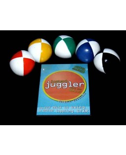 5 x Juggle Dream 120g Thuds + Ultimate Ball Juggling DVD + Instant Juggler - Balls DVD