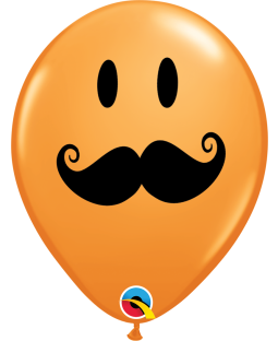 "Qualatex 5"" Moustache Ballons"