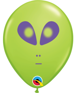 "Qualatex 5"" Alien Face Balloons"