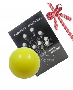 80mm Practice Contact Ball and Contact Juggling Book-Yellow