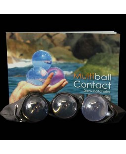 Three 75mm Juggle Dream Acrylic Contact Balls, Multiball Contact Book and three Contact Ball Bags