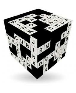V-Cube CROSSWORD - 3 x 3 x 3 Straight Cube