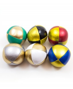 120g Juggle Dream 8-panel Squeeze Thud Juggling Ball - Metallic Theme
