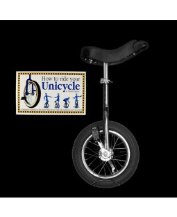 "Indy 12"" Trainer Unicycle and Free 'How To Ride Your Unicycle' Book"