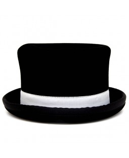 Juggle Dream Top Hat - Black w/White Trim
