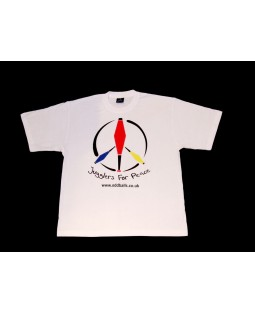 Oddballs T-Shirt - Jugglers For Peace - White